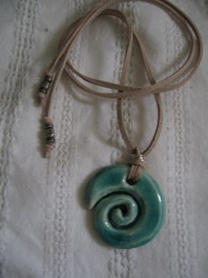 Acqua spiral ceramic jewelry