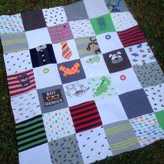 Baby onesie quilt...JL looks like a good tutorial