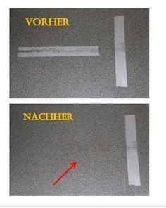 Die LÖSUNG   Doppelseitiges Klebeband Entfernen. Kunststoff, Holz, Laminat,  PVC, Glas