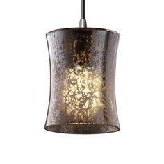 Justice Design Group Polished Chrome Fusion Single Light Wide Mini Pendant with Artisan Glass Shade Clear Light Bulbs, Light Led, Bronze Pendant, Cool Floor Lamps, Glass Material, Mercury Glass, Mini Pendant, Pendant Lighting, Light Pendant