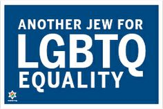 Another Jew for lgbtq equality