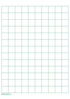 Printable 2 cm Green Graph Paper for A4 Paper A4 Paper, Graph Paper, Printable Paper, Free Printables, Journaling, Art Photography, Templates, Green, Ideas