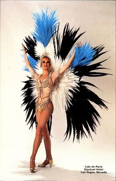 Lido de Paris beautiful showgirl Las Vegas Nevada NV feathers | eBay