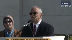 Rev. Jeremiah Wright, President Obama's ex-pastor, delivers a speech in Washington in which he calls Israel an 'apartheid state' and declares that 'Jesus was a Palestinian,' October 10, 2015. (Screenshot/YouTube)