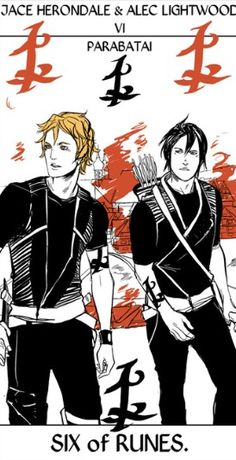 Jace Herondale and Alec Lightwood as the 6 of Runes by Cassandra JP -give her credit if you repin!