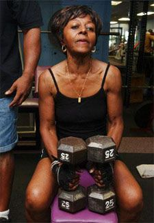 Morjorie Newlin - started bodybuilding at 72 until 86. Sadly, Morjorie passed away at 87 having contracted Leukemia