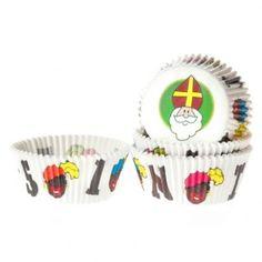 Geef met deze baking cups jouw Sinterklaas cupcakes een extra feestelijk tintje.