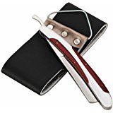 LAOYE Cut Throat Razor Straight Razor Kit Shavette Razor Shaving Knife Set Old Fashioned Traditional Manual Barber Folding Razors for Men with Leather Strop for Beginners Thing 1, Straight Razor, Knife Sets, Shaving, Leather, Knives, Amazon, Collection, Barber Shop