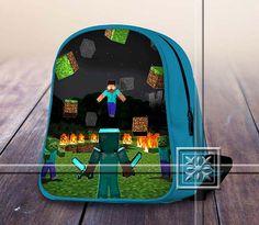Famous Figure Game Herobrine - Game Design For Kids School Bag Backpack