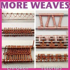 """Are you ready for more complex wire wrapping weaving? Get this """"must have"""" tutorial by Eni Oken."""