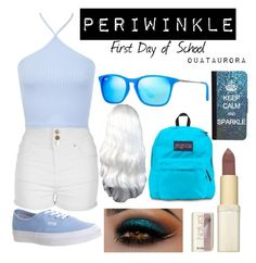 """""""Periwinkle """"First Day of School"""""""" by ouataurora ❤ liked on Polyvore featuring Jane Norman, Miss Selfridge, Vans, L'Oréal Paris, JanSport, CellPowerCases and Ray-Ban"""