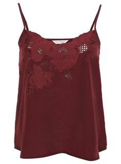 Burgundy Embroidered Cami