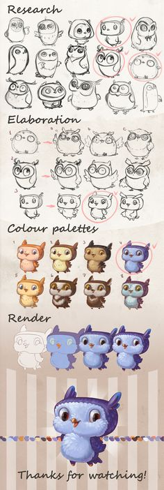 "Confira este projeto do @Behance: ""Character design Owl"" https://www.behance.net/gallery/45625391/Character-design-Owl"