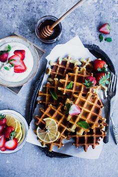 Almond Lemon Waffles | Playful Cooking