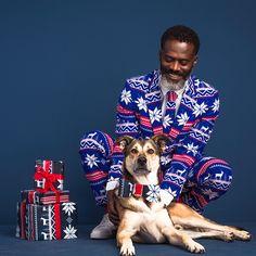 Met dit partypak breng je manlief alvast in de feeststemming. Is bovendien een goeie vervanger voor de foute kersttrui. #kerst #outfit #kleding #man #look #suit #christmas #xmas