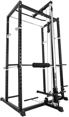 Popsport Power Rack Fitnes Strength Training Squat Rack Cage Bench Power Rack Cage Adjustable Bar for Fitness Muscle Building Home Made Gym, Diy Home Gym, Diy Gym Equipment, No Equipment Workout, Elementary Classroom Rules, Gym Rack, Workout Stations, Home Gym Design, Power Rack