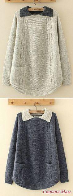 Нравятся такие туники, пуловеры. А как вяжется такой закругленный край не знаю? Частичным вязанием? Может есть какой-то алгоритм прибавки-убавки петель, имею ввиду описание, подскажите?