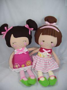 Custom Cloth doll, baby doll, dress up doll. (pattern by DollsAndDaydreams)