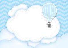 Convite para Cha de bebê Balão de Ar Quente - Fazendo a Nossa Festa