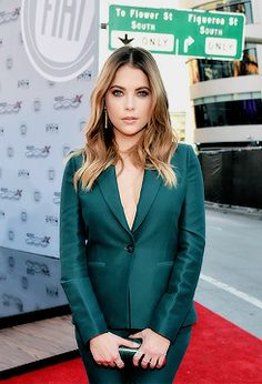 Ashley Benson attends the 2015 American Music Awards red carpet arrivals on November 22, 2015 in Los Angeles, California