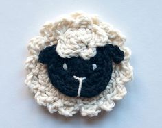 Instant Télécharger - PDF Crochet Pattern - moutons appliques - texte instructions et directives de symbole graphique