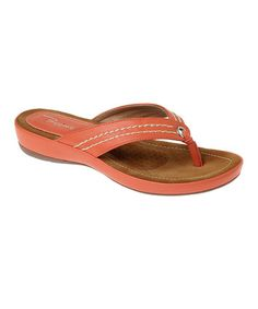 Look what I found on #zulily! Orange Rio Sandal by Passions Footwear #zulilyfinds