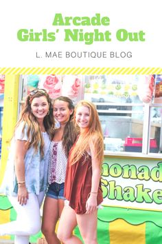 Read about L. Mae Boutique's fun time at the arcade for another great Girls' Night Out! Blog Websites, Fun Time, Our Girl, My People, Girls Night Out, Fashion Boutique, Good Times, Arcade, Lifestyle Blog