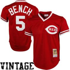 Men's Cincinnati Reds Johnny Bench Mitchell & Ness Red 1983 Authentic Cooperstown Collection Mesh Batting Practice Jersey - MLB.com Shop