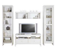 Attraktive Wohnwand in Weiß - schlichte Eleganz für Ihr Wohnzimmer