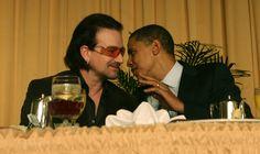 Bono chilling with Obama