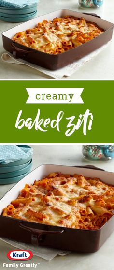 Creamy Baked Ziti – Creamy is the key word here—as sour cream and cream cheese take a tomato, marinara and ziti casserole to a whole new level of pasta deliciousness. This easy dish is ready for the oven in 25 minutes, and ideal for your Easter celebration.