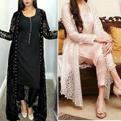 Silk suit with net gown All Colours Choice Available PKR Simple Pakistani Dresses, Indian Gowns Dresses, Pakistani Bridal Dresses, Pakistani Dress Design, Designer Party Wear Dresses, Kurti Designs Party Wear, Indian Designer Outfits, Stylish Kurtis Design, Stylish Dress Designs