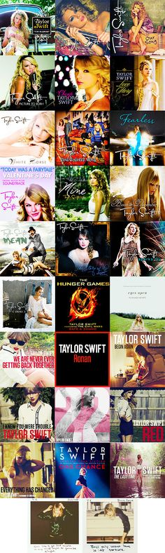 Taylor Swift single covers...