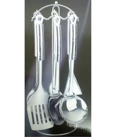 7 Pieces Stainless Steel Kitchen Utensil Set Cooking Tool Spoon Fork Ladle  BNIB