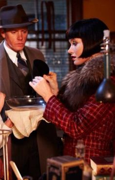 "Phryne & Jack ~ Miss Fisher's Murder Mysteries in ""Raisins and Almonds"""