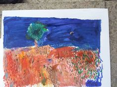 a brilliant Autumn landscape with distance from Ogbourne Art Club