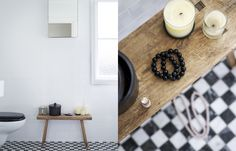 Black&White plus Wood = Chic !