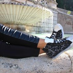 Just take it easy and enjoy your cool #2star sneakers!  www.2star.it  #high #sneaker #sneakers #white #black #used #effect #style #fashion #amazing #stylish #shoe #shoes #fall #winter #collection #woman #girl #instagood #instamood #instamoment
