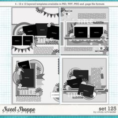 *FREE with your $10 Purchase* Cindy's Layered Templates - Set 125 by Cindy Schneider
