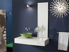 Lacquered wall-mounted vanity unit with mirror MARIPOSA 30 Mariposa Collection by LASA IDEA | design Massimo Casprini, Alessandro Gordini