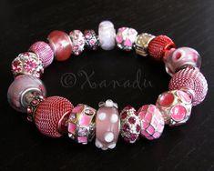 Pretty In Pink Premium European Charm Bracelet  by xanaducharms, $41.95