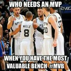 True that, and if I do say so myself, The Spurs are deep because they have a great bench, can I say Cory Joseph on that dunk over Serge Ibaka? :)