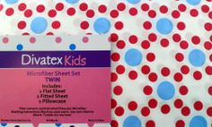 Divatex Kids Twin Sheet Set by DIVATEX KIDS. $29.99. White Background with Blue and Red Dots; 1 Pillowcase; 100% Polyester; Set includes; 1 Twin Flat Sheet; 1 Twin Fitted Sheet. Divatex Kids Microfiber, Twin Sheet Set, White background with blue and Red dots. Kids Bed Sheets, Twin Sheet Sets, Red Dots, Flat Sheets, Home Kitchens, Pillow Cases, Bedding, Blue, Kids Bed Linen