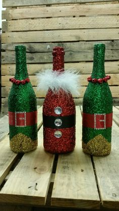 Santa and His Elves Wine Bottles 10/3/2016