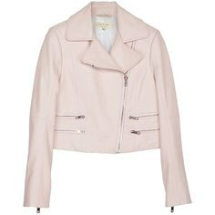 Pre-owned Rag & Bone Vespa Moto Leather Motorcycle Jacket ($322) ❤ liked on Polyvore featuring outerwear, jackets, cropped biker jacket, pink biker jacket, cropped jacket, pink jacket and cropped moto jacket