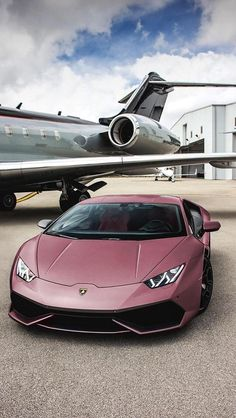 The Lamborghini Huracan was debuted at the 2014 Geneva Motor Show and went into production in the same year. The car Lamborghini's replacement to the Gallardo. The Huracan is available as a coupe and a spyder. Lamborghini Gallardo, Lamborghini Veneno Horsepower, Huracan Lamborghini, Pink Lamborghini, Luxury Sports Cars, Top Luxury Cars, Sport Cars, Luxury Suv, Luxury Vehicle