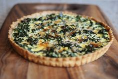 Quiche with Kale, I made this with smoke gouda instead of Gruyere and with 1 1/2 cups of kale instead of just 1 and it is AMAZING
