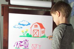 Wonder Chalk Liquid Chalk Markers are bright and vibrant on White Boards... fun for kids, teachers, everyone!