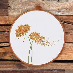ThuHaDesign Modern Flower cross stitch pattern modern nature art instant download
