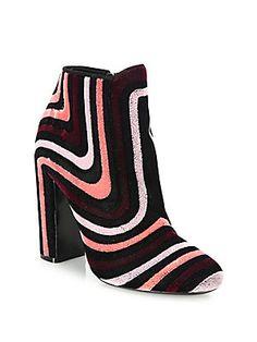 598864545 Rebecca Minkoff Women s Logan Velvet Embellished Buckle Booties ...